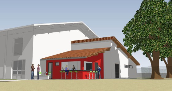 Vourey / Extension du gymnase / Projet