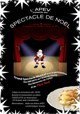 APEV affiche noel 2014