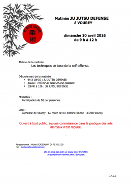 2016 avril 10  stage JU JUTSU DEFENSE - VOUREY - copie 2