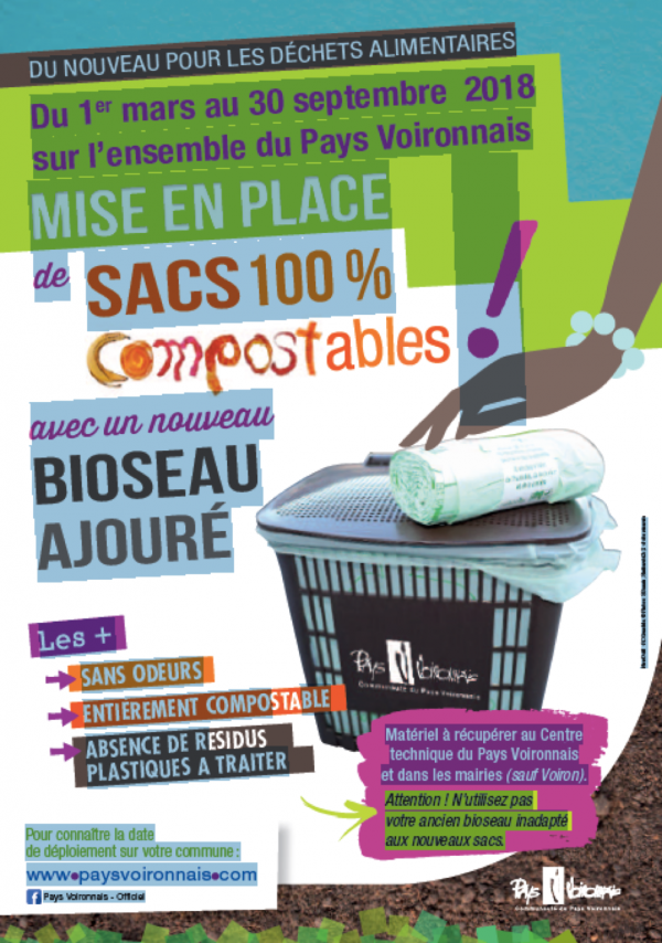 Vourey passe au 100% compostable